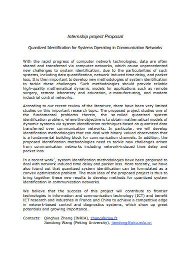 internship project proposal systems