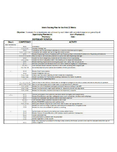 internship training plan template1