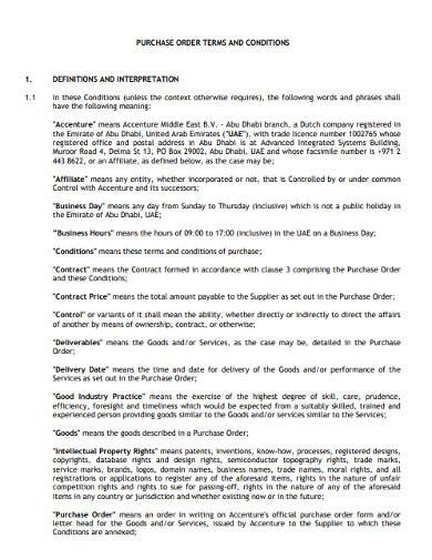 interpretation property purchase order form