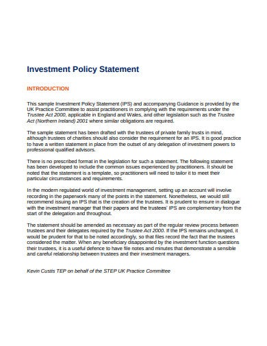 Trustee act 2000 statement of investment principles and practices finanzas forex cardona law