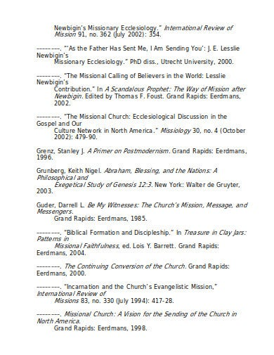 journal for church template in doc