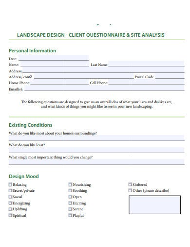 26 Client Questionnaire Templates In Pdf Ms Word Free