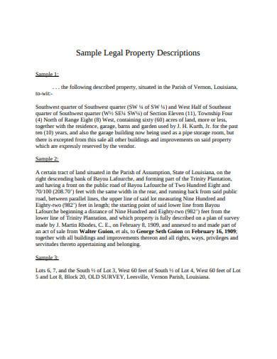 legal property descriptions
