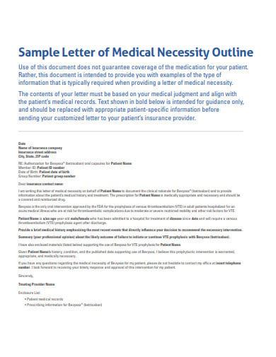 letter of medical necessity outline