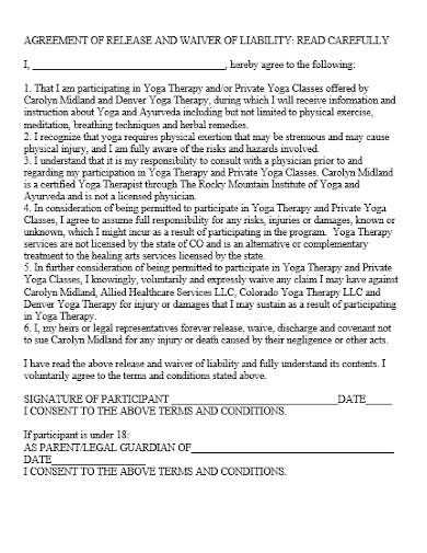 liability release agreement format