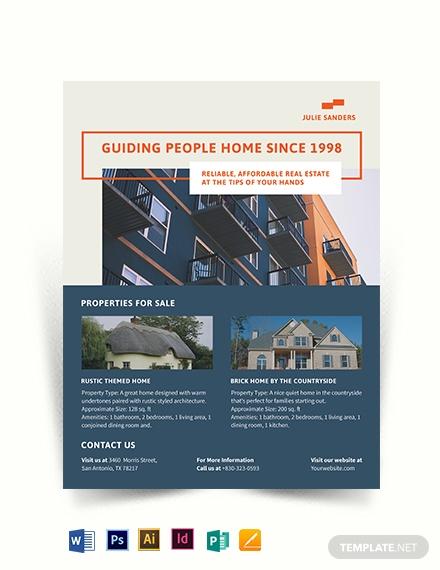 licensed real estate broker flyer template