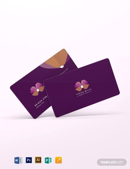 makeup artist business card template 2