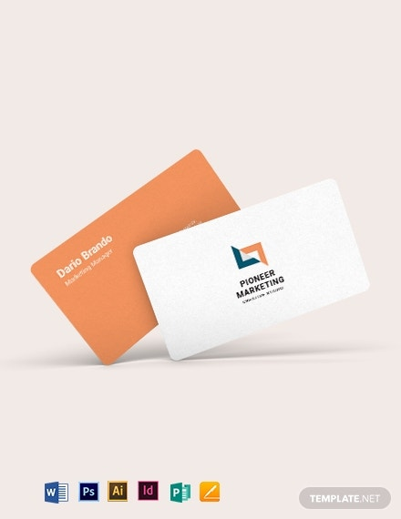 marketing agency business card template 1