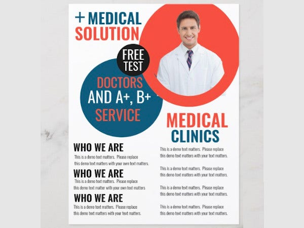 medical business clinic flyer template