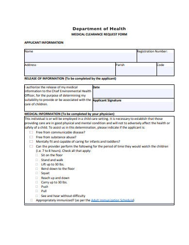 medical-clearance-request-form-example