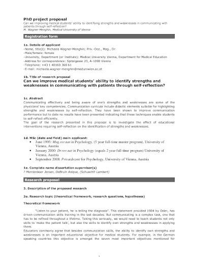 medical project research proposal