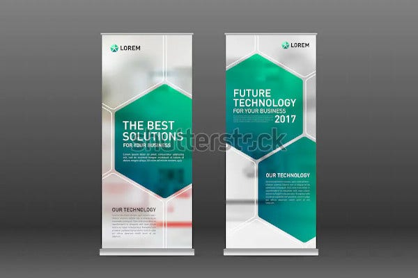 medical roll up banner design