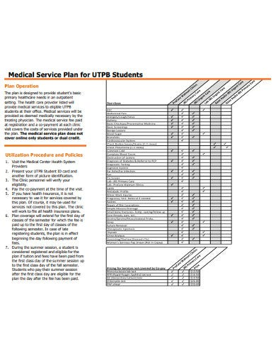 medical service plan for students