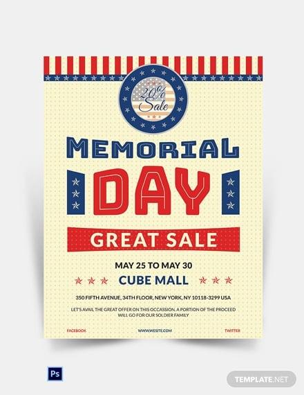 memorial day sale poster