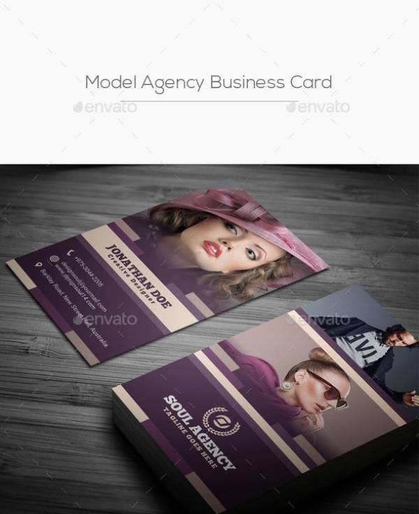 model agency business card preview 1