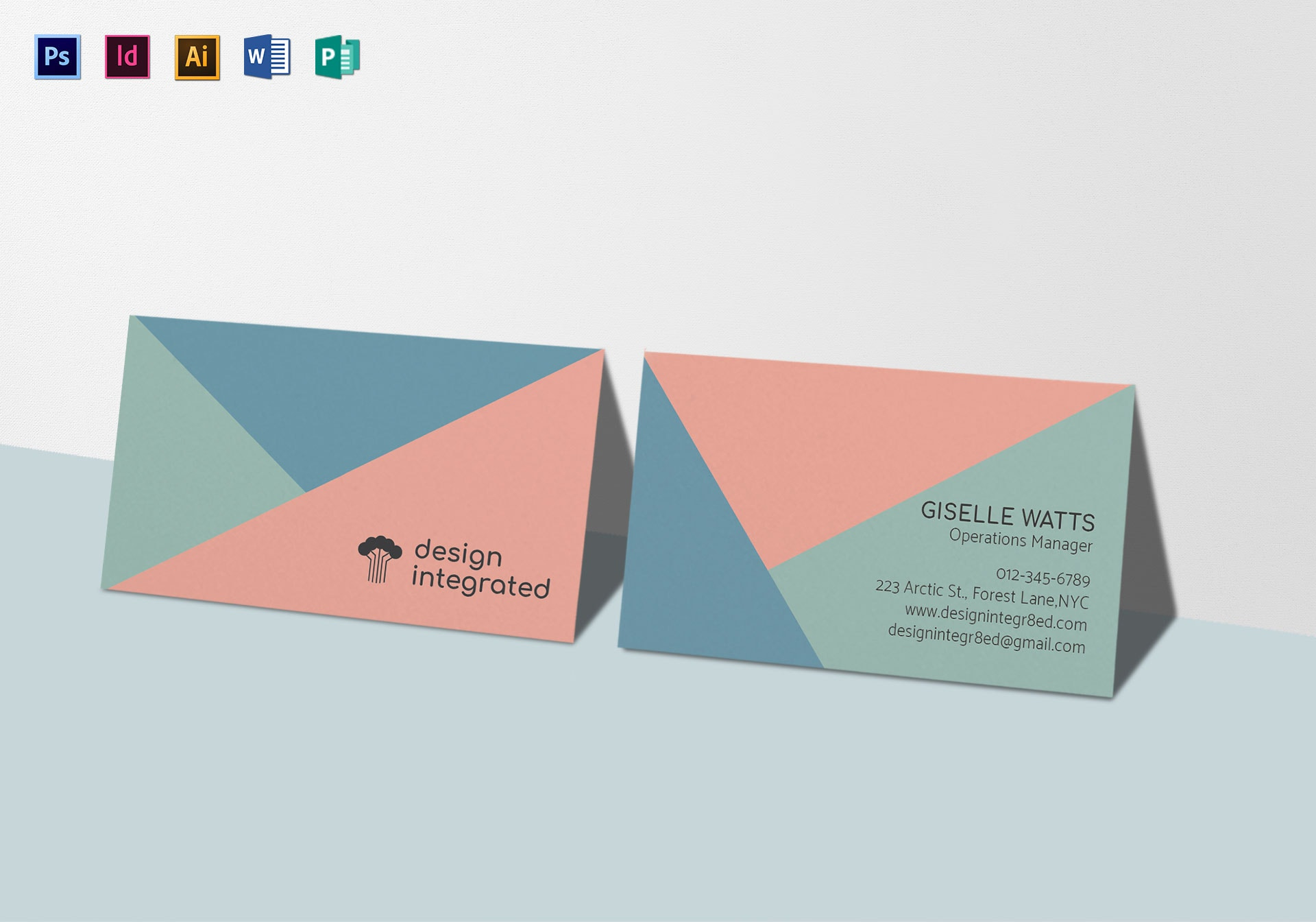modern creative business card mock up