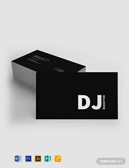 modern dj business card template 440x570 1
