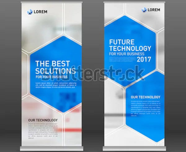 modern medical roll up banner template