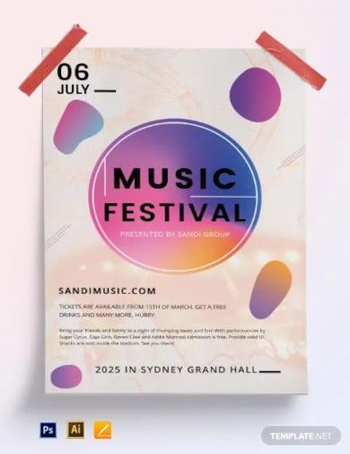 music festival poster template1