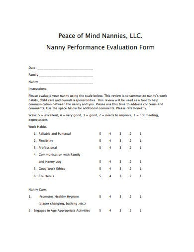 nanny-performance-evaluation-form
