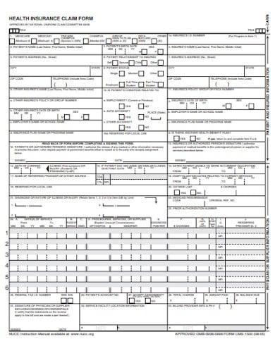 18+ Health Insurance Claim Form Templates - PDF, DOC ...