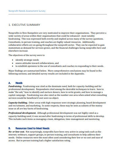nonprofit needs assessment survey template