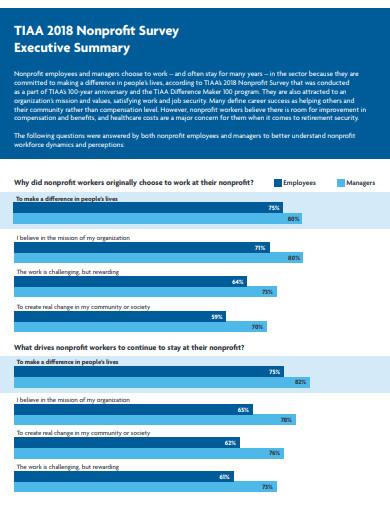 nonprofit survey executive summary template
