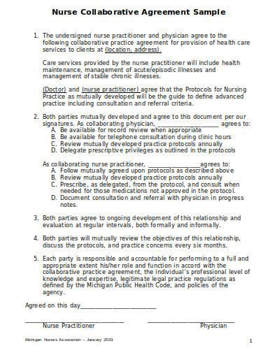 8 nursing agreement templates in pdf doc free. Black Bedroom Furniture Sets. Home Design Ideas