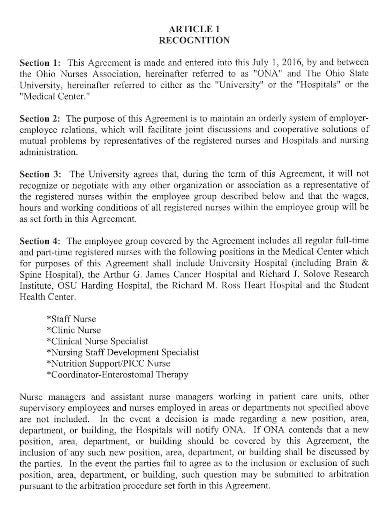 nursing contract employment agreement