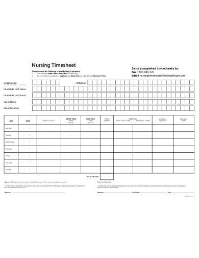 nursing timesheet template