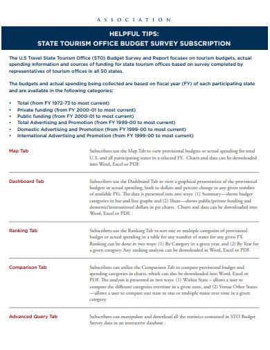 office budget survey template