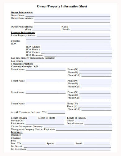 owner-property-information-form-template