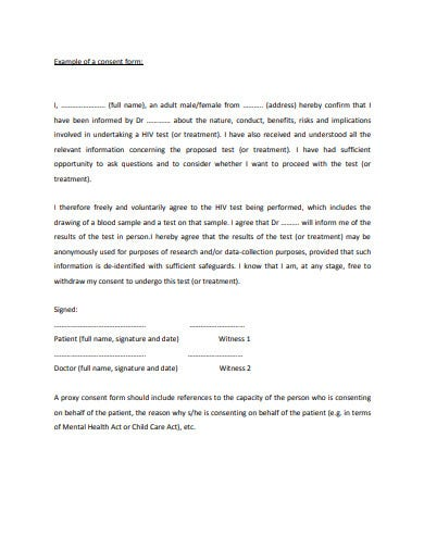 patient consent form example