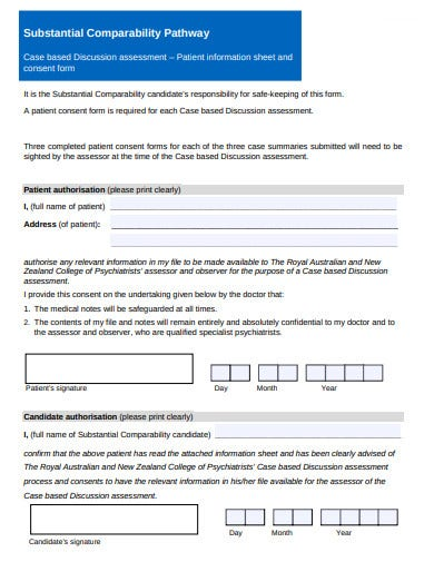 patient information sheet consent form template