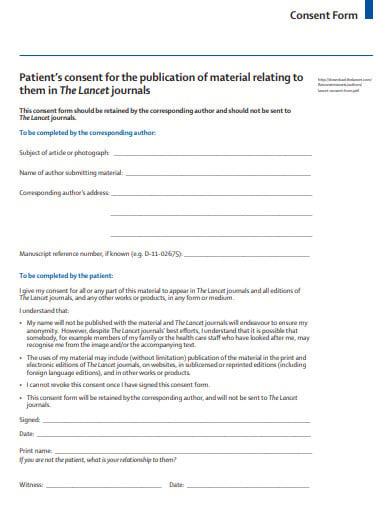 patient lancet consent form template