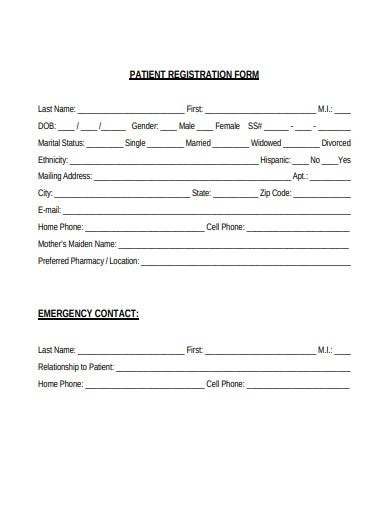 patient registration form format
