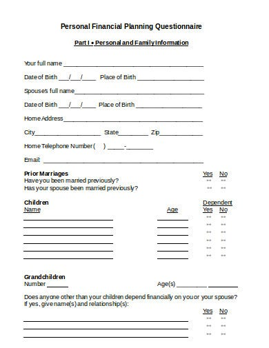 10  financial planning questionnaire templates in ms word