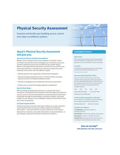 physical security assessment example