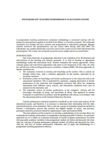 post-graduate-teacher-performance-evaluation-template