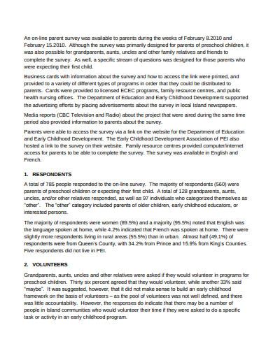 pre school parent survey in pdf