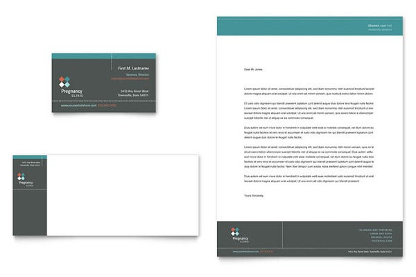 pregnancy clinic business card
