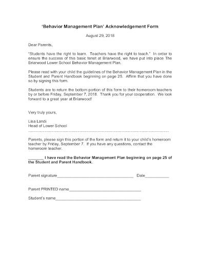 printable behavior management plan template