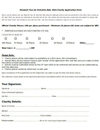 printable charity invoice