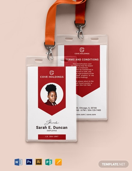 10+ Portrait ID Card Template - llustrator, MS Word, Pages ...