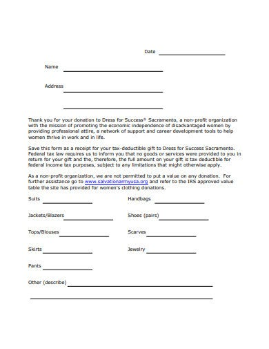 17 Donation Receipt Letter Templates In Google Docs