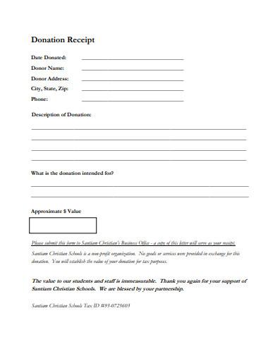 printable donation receipt letters