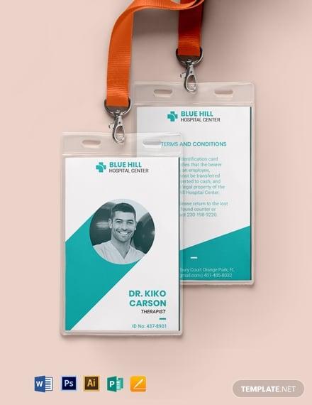 printable medical id card2