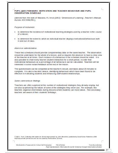 printable motivation questionnaire