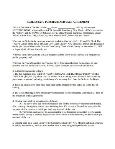 printable real estate buy sale agreement