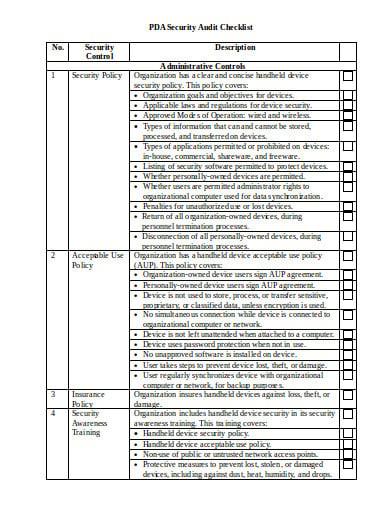 6  retail audit checklist templates in pdf